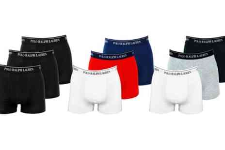 Groupon Goods Global GmbH - Three Pack of Ralph Lauren Mens Trunks - Save 0%