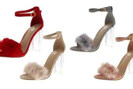 Groupon Goods Global GmbH - Womens Fluffy Party High Heels - Save 0%