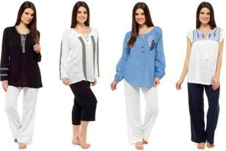 Groupon Goods Global GmbH - One or Two Womens Cotton Summer Tops in Choice of Size and Colour - Save 0%