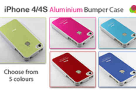 Jewel2Sell - iPhone 4/4S Aluminium Bumper Case in a Range of Colours - Save 44%
