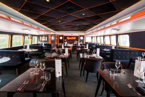 RS Hispaniola - Three Course Meal with Glass of Prosecco and Thames Cruise Tickets for Two - Save 45%