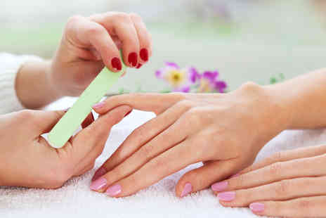 Aify - Shellac polish with filing, tidying, shaping & cuticle work - Save 44%