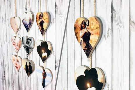 Your Perfect Canvas - Personalised set of hanging hearts - Save 77%