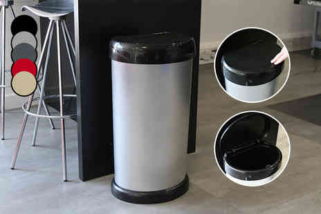 Groundlevel - 42L one touch bin or chrome bin - Save 50%