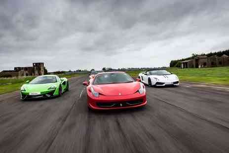 Drivers Dream Days - Three lap supercar driving experience with a hot lap - Save 67%