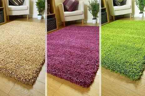 Groundlevel - Shaggy rug choose from nine colours - Save 67%