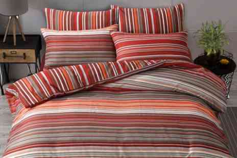 Groupon Goods Global GmbH - Pieridae Ombre Stripe Duvet Set - Save 77%