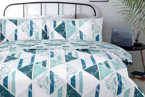 Groupon Goods Global GmbH - Pieridae Diamond Marble Duvet Cover Set in Choice of Colour - Save 77%