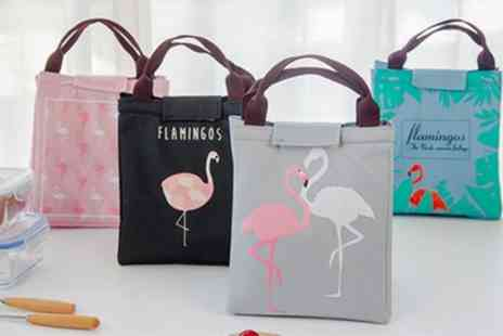Groupon Goods Global GmbH - Up to Four Flamingo Insulated Lunch Bags - Save 75%