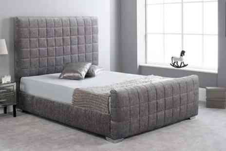 Groupon Goods Global GmbH - Hand Crafted Lily Fabric Bed with Optional Mattress With Free Delivery - Save 73%