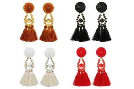 Groupon Goods Global GmbH - One, Three or Four Pairs of Tassel Earrings - Save 88%