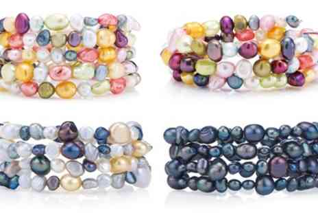 Groupon Goods Global GmbH - Three, Four or Five Row Pearl Bracelet - Save 73%
