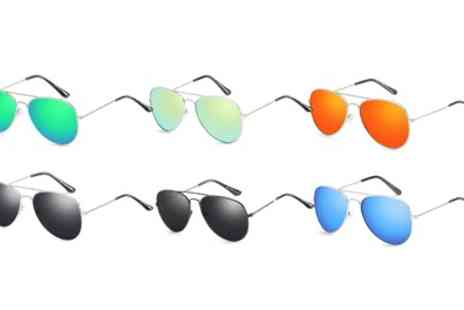 Groupon Goods Global GmbH - One or Two Pairs of Aviator Style Sunglasses - Save 83%