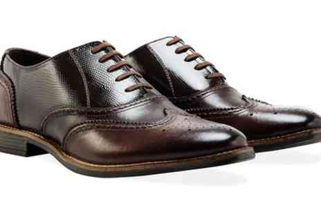 Groupon Goods Global GmbH - Redfoot Mens Leather Brogue Shoes - Save 58%
