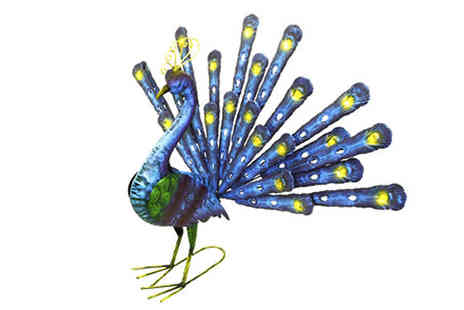 M&M Deals - Peacock Garden Ornament with Fan Tail - Save 20%