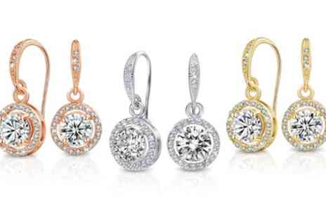 Neverland Sales - One or Two Pairs of Mestige Liberty Earrings with Crystals From Swarovski With Free Delivery - Save 84%