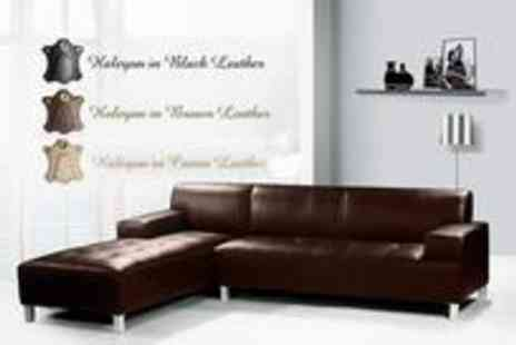 Leather Fabric Sofas - Halcyon leather sofa - Save 78%