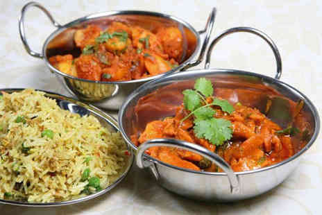 Standard Balti House - Two course dinner with rice or naan and a side to share for two people or include drinks - Save 60%