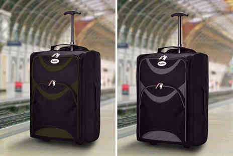 Black Feather - Cabin approved wheelie hand luggage choose from four colours - Save 78%