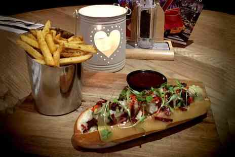 TriBeCa South - Speciality burger or hot dog and fries for two or include a glass of wine, beer or Prosecco each - Save 58%