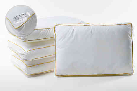Home tex - One box pillow with gold coloured piping - Save 73%