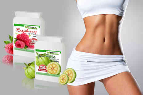 Better Bodies - One month supply of garcinia cambogia and raspberry ketone supplements - Save 62%