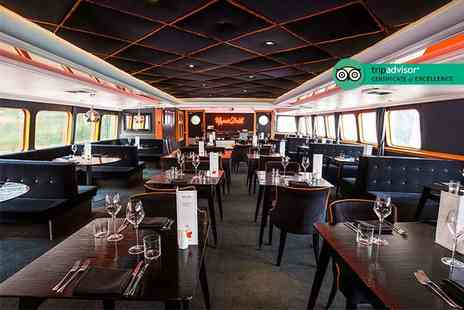 R S Hispaniola - Three course meal with bottomless Prosecco for two aboard the R.S. Hispaniola and a River Red Rover ticket - Save 58%