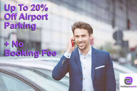 Holiday Experts - Airport parking with no booking fee - Save 0%