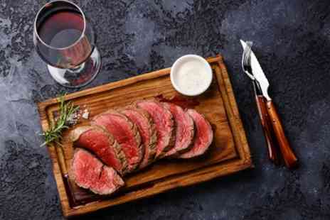 Ingram Wynd - Fillet Steak Meal with Glass of Wine or Bottle of Beer for Two or Four - Save 49%