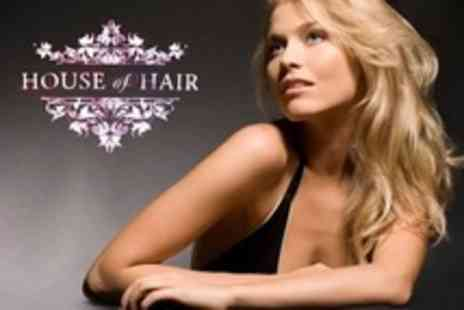 House of Hair - Half Head of Highlights or Full Head of Colour, Plus Cut and Finish, with a Stylist - Save 65%