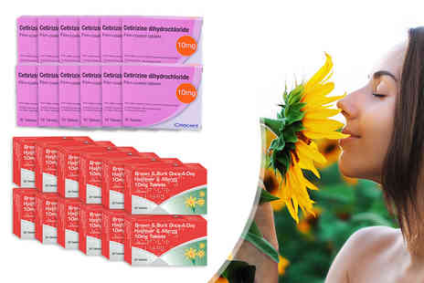 Pharmacy First - Six or 12 month supply of Cetirizine or Loratadine allergy tablets - Save 91%
