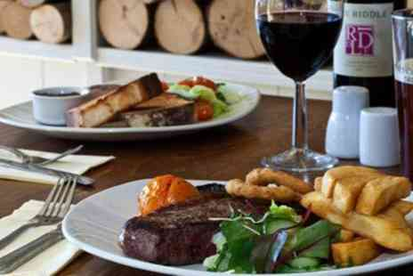 Oscars Restaurant - Two Course Rump Steak Dinner for Two or Four - Save 46%