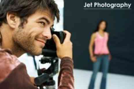 Jet Photography - Photo Shoot With 30 x 24 Canvas, Print and Passport Sized Images - Save 89%