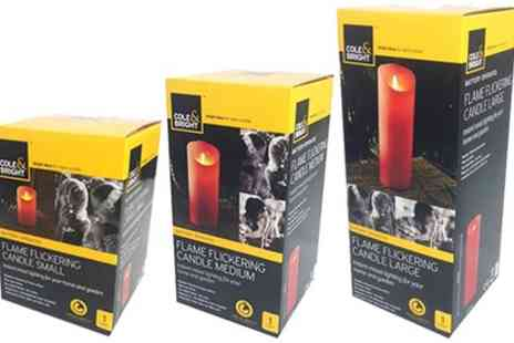 Groupon Goods Global GmbH - Two or Three Flickering Battery Operated Flameless Candles - Save 50%