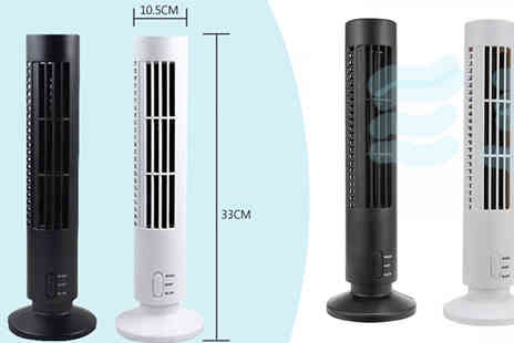 HXT Goods - Usb Tower Fan Available in 2 Colours - Save 80%
