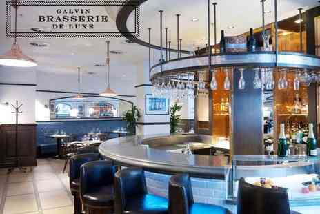 Galvin Brasserie de Luxe - Three course fine dining lunch with a glass of wine each for two - Save 36%