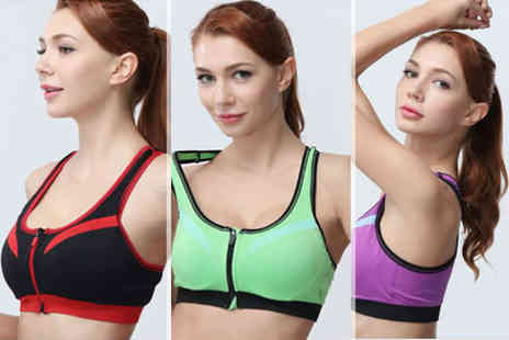Trifolium Lingerie - Seamless layered padded sports bra choose from six colours - Save 72%