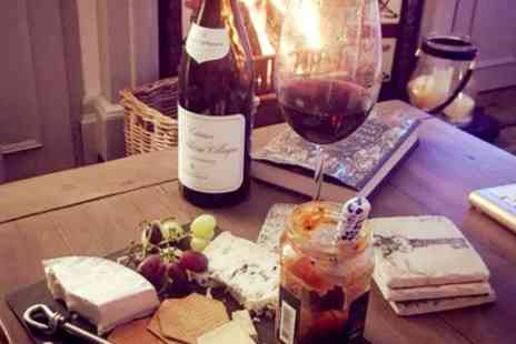 Cullenders - Bottle of Wine with a Cheese and Meat Board to Share Between Pairs for Two or Four - Save 34%