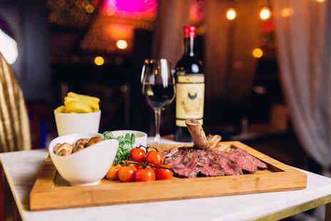Sky Bar - Sirloin steak dinner for two with sides, a sauce and a glass of Prosecco each - Save 49%