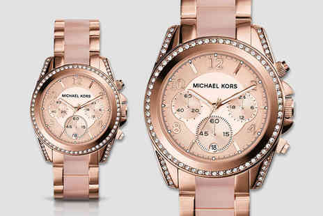D2time - Ladies Michael Kors MK5943 rose gold plated watch - Save 57%