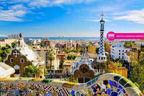 Tour Center - Four Star two or three night Barcelona, Spain spa hotel stay with return flights - Save 39%