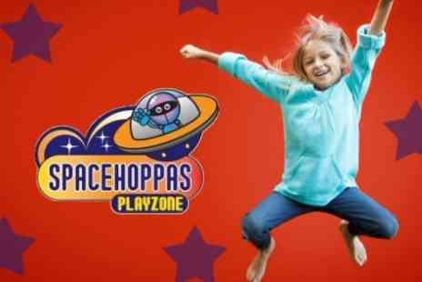Spacehoppas - Entry For Two Adults and Two Children With Hot Drink Each For Adults and Meal Each for Children - Save 63%