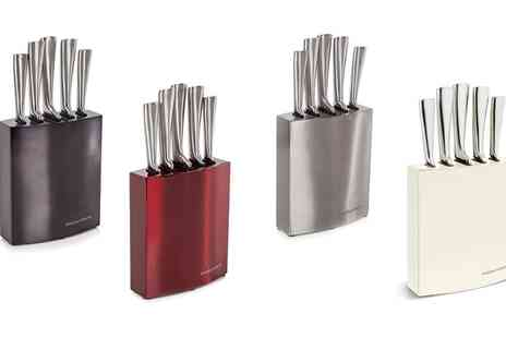 Groupon Goods Global GmbH - Morphy Richards Five Piece Knife Block Set in Choice of Colour - Save 0%
