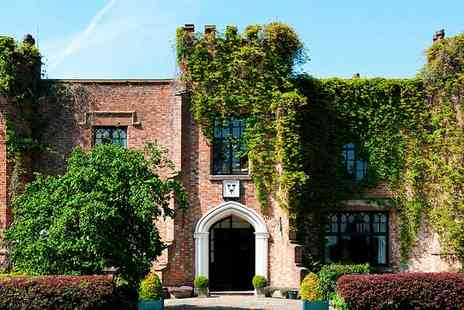 Crabwall Manor Hotel - Afternoon tea for 2 in 17th century Cheshire manor - Save 40%