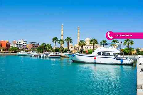 Super Escapes Travel - Seven night 4 Star all inclusive Hurghada, Egypt beach break in a pool view room and return flights - Save 49%