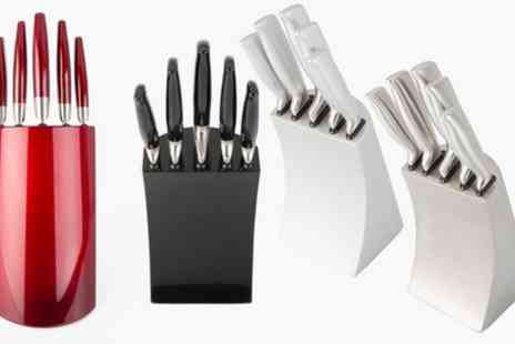 Groupon Goods Global GmbH - Davis and Grant Knife Set with Metal Block or Acrylic Stand - Save 0%