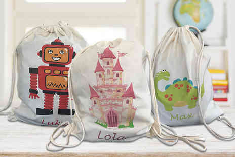 Unibind Photo Books - Kids personalised drawstring or tote canvas bag - Save 60%