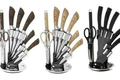 Groupon Goods Global GmbH - Berlinger Haus Six or Eight Piece Knife Set in Choice of Colour - Save 77%