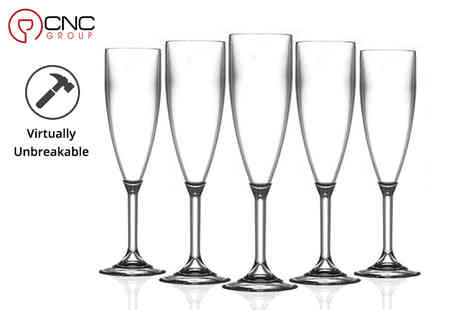 CNC Group - Set of four champagne flute glasses or 12 glasses - Save 47%