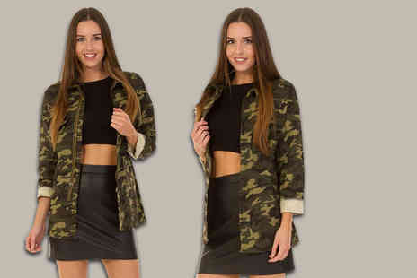 Bluebell Retail - Womens camo print jacket - Save 0%